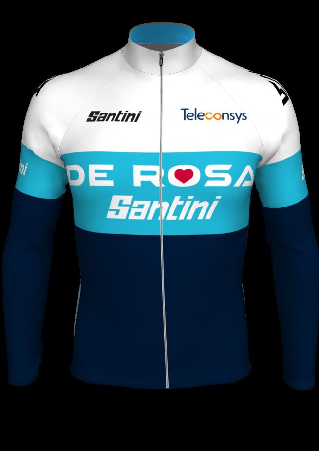 Maglia Invernale manica lunga Team De Rosa Santini